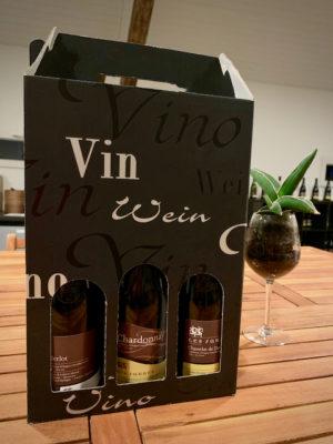 Emballage Les Faunes trois bouteilles